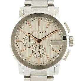 【送料無料】【中古】 GUCCI グッチ SS 腕時計 Gクロノ 101.2 シルバー メンズ おしゃれ かっこいい おすすめ ギフト プレゼント ステンレススチール