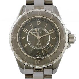 【送料無料】【中古】 CHANEL シャネル 腕時計 J12 クロマティック H2978 グレー シルバー レディース メンズ おしゃれ おすすめ ギフト プレゼント セラミック チタン