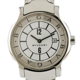 【送料無料】【中古】 BVLGARI ブルガリ SS 腕時計 ソロテンポ ST29S シルバー ホワイト レディース おしゃれ かわいい おすすめ ギフト プレゼント ステンレススチール