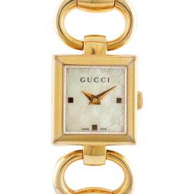 【送料無料】【中古】 GUCCI グッチ SS 腕時計 GG バングル YA120159 トルナブォーニ 120 ゴールド ホワイト レディース おしゃれ かわいい おすすめ ギフト プレゼント ステンレススチール【BIM】