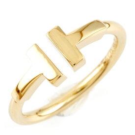 【送料無料】【中古】 TIFFANY&Co. ティファニー K18 リング 指輪 Tワイヤー 6.5号 レディース おしゃれ かわいい おすすめ ギフト プレゼント 18金 ゴールド【BJ】【BIM】