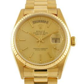 【送料無料】【中古】 ROLEX ロレックス K18YG 腕時計 オイスターパーペチュアル 71番 1981年式 デイデイト 18038 ゴールド メンズ おしゃれ かっこいい おすすめ ギフト プレゼント 18金 K18イエローゴールド【SH】【BIM】