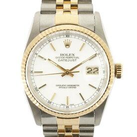 【送料無料】【中古】 ROLEX ロレックス SS K18YG 腕時計 オイスターパーペチュアル 84番 1984年式 デイトジャスト 16013 シルバー ゴールド ホワイト メンズ おしゃれ かっこいい おすすめ ギフト プレゼント ステンレススチール K18イエローゴールド【SH】【BIM】