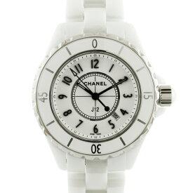 【送料無料】【中古】 CHANEL シャネル 腕時計 J12 H0968 ホワイト レディース メンズ おしゃれ おすすめ ギフト プレゼント セラミック【SH】【BIM】