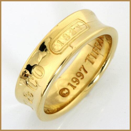 【送料無料】【中古】K18 リング指輪 TIFFANY&Co. 12号 18金【BJ】カワイイ 可愛い かわいい おしゃれ オシャレ レディース 女性 アクセ アクセサリー ティファニー ティファニ- 1837 ※