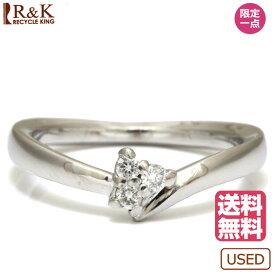 【送料無料】【中古】4℃ リング 指輪 K18WG 18金 ホワイトゴールド ダイヤモンド ヨンドシー レディース メンズ 女性 男性 かわいい おしゃれ ※ 価格見直し0711 【SH】