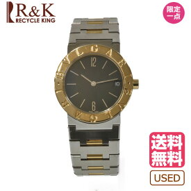 【送料無料】【中古】BVLGARI ブルガリ ブルガリ 腕時計 ウォッチ シルバー ゴールド ブラック 黒 レディース メンズ おしゃれ かわいい ギフト プレゼント 【SH】