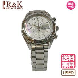 【送料無料】【中古】OMEGA オメガ スピードマスター デイト 腕時計 ウォッチ シルバー 白 ホワイト 351330 レディース メンズ おしゃれ かわいい ギフト プレゼント 【SH】