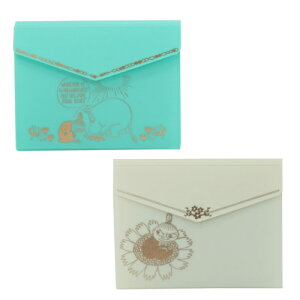 ムーミン ポケット式カードケース ミント アイボリー リトルミイ MOOMIN かわいい おしゃれ 北欧 グッズ 雑貨 プレゼント ギフト