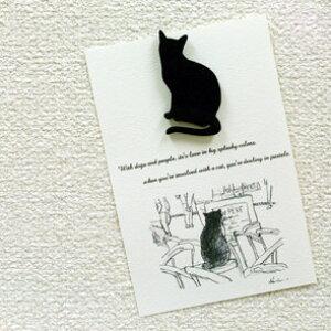 Silhouette Clip シルエットクリップ 木製 マグネット ネコ 猫 cat かわいい おしゃれ 黒猫 ステーショナリー 文房具 プレゼント