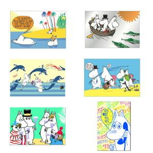 MOOMIN ムーミン ポストカード 絵はがき メッセージカード ムーミンパパ ムーミンママ フローレン かわいい おしゃれ 文房具 ステーショナリー グッズ 雑貨 北欧