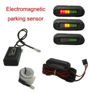 【1日限定P10倍】パーキングセンサー 穴あけ不要 電磁 バックセンサー アラーム&LEDモニター付き 12v 16ヶ月保証