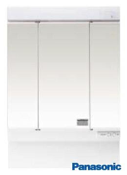 【GQM75K3SMK】 《TKF》 パナソニック 洗面化粧台 エムライン ミラーキャビネット 蛍光灯3面鏡 750幅 くもりシャット付き ωα2