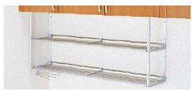 【MTA2-90】 《TKF》 クリナップ ステンレスパイプ棚 ふきん掛け付き 間口90cm 高さ50cm ωγ1