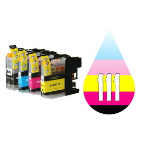 LC111 LC111-4PK 4色セット ( 送料無料 ) ( LC111BK LC111C LC111M LC111Y ) 互換インク brother 最新バージョンICチップ付 MFC-J980DN MFC-J980DWN MFC-J890DN MFC-J890DWN MFC-J870N MFC-J820DN MFC-J820DWN MFC-J720D MFC-J720DW