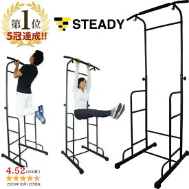 【1位獲得】ぶら下がり健康器 安定強化版 懸垂マシン [メーカー1年保証] STEADY(ステディ) ST101 チンニングスタンド 懸垂器具 懸垂スタンド ディップススタンド トレーニング器具