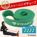 【1位獲得】トレーニングチューブ 緑(強度:スーパーハード) 日本語トレーニング動画付 [メーカー1年保証] STEADY(ス…