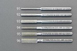 エスコ (ESCO) φ3.3 x 50mm ダイヤモンド鑢(丸・ショート/#200) EA826VM-93