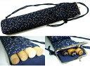 篠笛用ケース(袋)トンボ柄 がま口型 お囃子 和太鼓 サイドポケットには鉢や扇子も入ります。手作り品