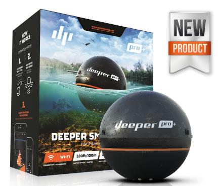 ディーパー プロプラス GPS付ソナー魚探 Deeper Smart Sonar PRO+ Wi-Fi