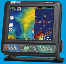 ヘディングセンサー接続可能 HE-8S ホンデックス 本多電子 GPS内蔵 8.4型液晶プロッターデジタル魚探 デプスマッピング