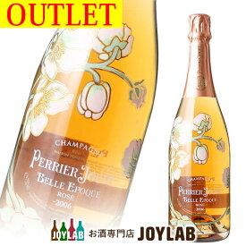 【アウトレット】ペリエジュエ ベルエポック ロゼ 2006 750ml 箱なし シャンパン シャンパーニュ PERRIER-JOUET BELLE EPOQUE 【中古】