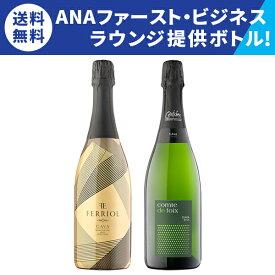 【送料無料】ANAファースト/ビジネスラウンジ提供品 スペシャル2本セット [スパークリングワイン][ワインセット][セットワイン][カヴァ][泡] 家飲み