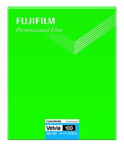 FUJIFILM リバーサルフィルム フジクローム Velvia 100 シート 20枚 CUT VELVIA100 NP 8X10 20