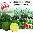 2017年収穫【徳島産 すだち果実】 無農薬栽培 1kg(37個前後)家庭用袋入 サイズ混合