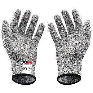 niceluke 軍手 防刃 手袋 作業用 切れない 耐切創 ワークマン DIY 手袋 防災用品 安全防護 グレー M 1