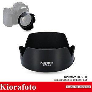 Kiorafoto KES-68 レンズフード Canon ES-68 互換 EF 50mm f/1.8 STM レンズ 適用 花形