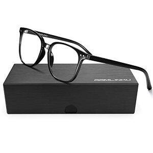 Ramlinku ブルーライトカット メガネ 度なし PCメガネ パソコン用メガネ pcブルー ライト カット メガネ メンズ だてめがね レディース 超軽量 UVカット メガネ 紫外線カット ウェリントン 男女
