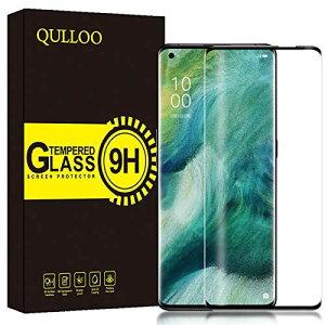 QULLOO OPPO Find X2 Pro au OPG01 ガラスフィルム 3D曲面加工 硬度9H 高透過率 指紋防止 気泡防止 薄型 Find X2 Pro 保護フィルム
