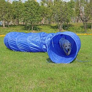 プレイトンネル ペットトンネル トンネル ボールハウス 子供用 大中小型犬 猫 小動物 60×500cm ブルー