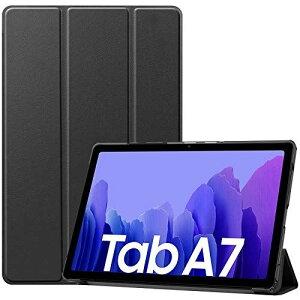 "ProCase Galaxy Tab A7 10.4"" フォリオケース 2020 (T500/ T505/ T507), 3つ折り スリム 薄型 スタンド機能 ハードシェル 保護カバー 対応端末: 10.4インチ Galaxy Tab A7 2020 (SM-T500/ T505/ T507)‐ブラック"