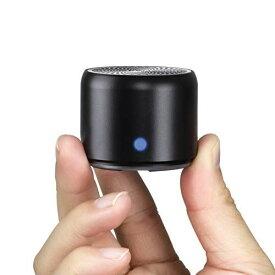【改善版 旅行用EVAケース付き】EWA A106 ポータブル ミニ ワイヤレス Bluetooth スピーカー 【12時間連続再生/IP67防水規格/超小型/コンパクト/パッシブラジエータ搭載/強化された低音/車載、風呂用 / メーカー付き / 多言語取扱説明書】(ブラック)