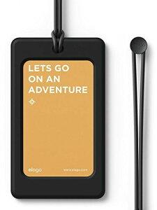 elago LUGGAGE TAG ネームタグ スーツケース 旅行カバン ゴルフバッグ 用 シリコン 製 ラゲージタグ ネームプレート ブラック