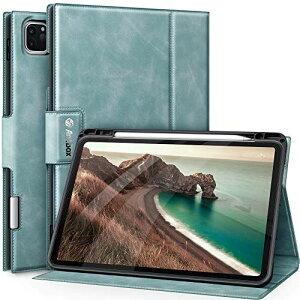 Antbox iPad Pro 11 ケース 2020 iPad Pro 11(第2世代)専用 Apple Pencil 2 収納/ペアリングとワイヤレス充電対応 ひび割れ防止 高級感ソフトPUレザー製iPad Pro 11 2020カバー オートスリープ&1.スタンド機