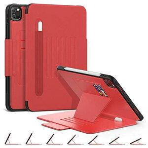 iPad Pro 11 ケース 2020 (2020モデル専用)ペンホルダー付き 衝撃保護 7段階1.スタンド機能 オートスリープ/ウェイク カード収納 防塵 全面保護型 傷つけ防止 2020 iPad Pro 11 専用カバー (モデル番