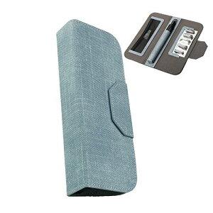 TT プルームテックプラス 専用ケース Ploomtech+ 手帳型 大容量 レザー カバー 最新型 収納 電子タバコケース (ブルー)