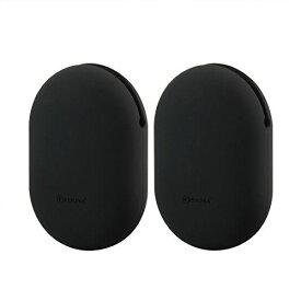 Geekria 収納ポーチ イヤホンポーチ Jaybird X3, X2, BlueBuds X, Freedom, Bose SoundSport, SoundTrue, 等に対応 ケース シリコーン製 小物整理 携帯用 持ち運びに便利 片手で使える [2個セット S: 8.3 X 6.5 X 3 cm ] Black 2pack set S
