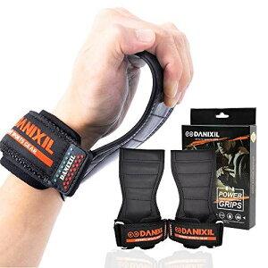 DANIXIL ダニキシル パワーグリップ PRO プロ トレーニング グローブ グリップ 筋トレ リストラップ 握力 補助 サポート ジム トレーニング グローブ 握力 筋肉 懸垂 デッド リフト 滑り止め ラ