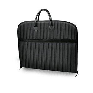 ガーメントケース スーツ用 収納ケース 大容量 ガーメントバッグ 出張 旅行 ビジネス 冠婚葬祭 防水防塵 軽量 型崩れ防止 手提げ 男女兼用 100×60CM ブラック