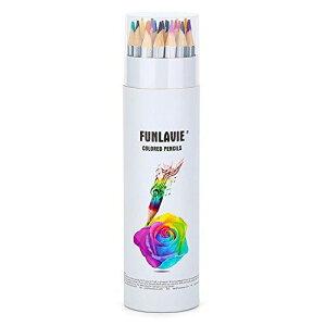 色鉛筆 塗り絵 彩色 カラフル24色セット 子供 / 大人の塗り絵用 カラフルペン クリスマス 子供プレゼント オフィス用品 FUNLAVIE