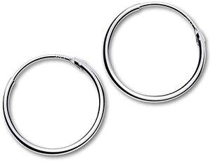 GOKEI フープピアス シルバー925純銀製 シンプル 男女兼用 金属アレルギー対応 リング フープ ピアス 軟骨ピアス レディース メンズ アクセサリー 12mm