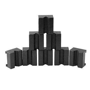 Ruien ジャッキパッド ジャッキスタンド用 8個入り 被せる タイプ ゴム製ラバークッション ジャッキアップ用アダプター 汎用式 方形 ブラック