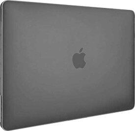 【SwitchEasy】 MacBook Pro 13 対応 ケース 半透明 フロスト クリア ハードケース 薄型 透明 カバー 傷防止 アクセサリー [ MacBookPro 13インチ 2019 2018 2017 2016 Touch Bar 搭載 非搭載 兼用 マックブックプロ 13インチ 対応 ] NUDE トランスパレントブラック