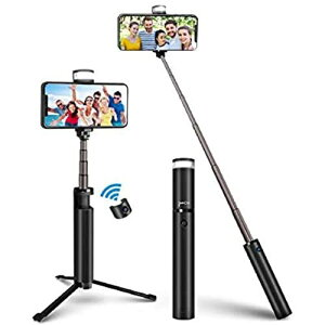 Senli Bluetooth 自撮り棒 三脚 スマホ 自撮り棒 ライト 三脚一脚兼用 ビデオ録画 セルカ棒 軽量 コンパクト お花見 旅行 6段伸縮可能 iPhone Android 対応