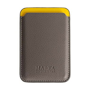 [MALTA] iPhone12対応ケース iPhone12mini対応 マグネット 背面カバー カードケース レザーケース 磁石 greyyellow