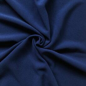 【生地・布】ダークブルー ポリエステル横ストレッチ スーティング 広幅 国産 スカート ワンピース ジャケット エプロン 婦人 子供 小物 手芸 雑貨 インテリア 激安 セール(h-1714)